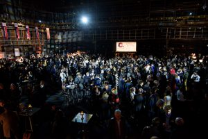The packed Television Centre