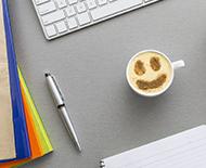 desk coffee work