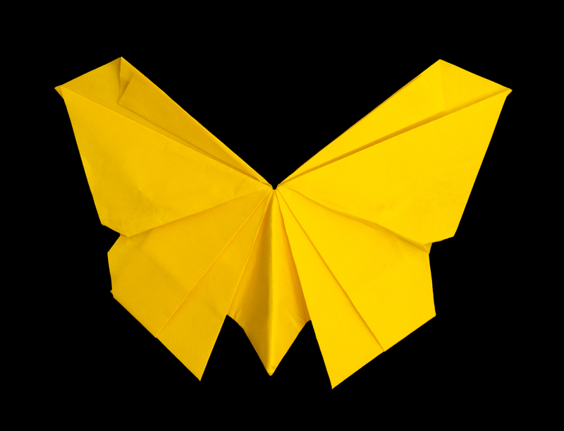 origami yellow butterfly creativity