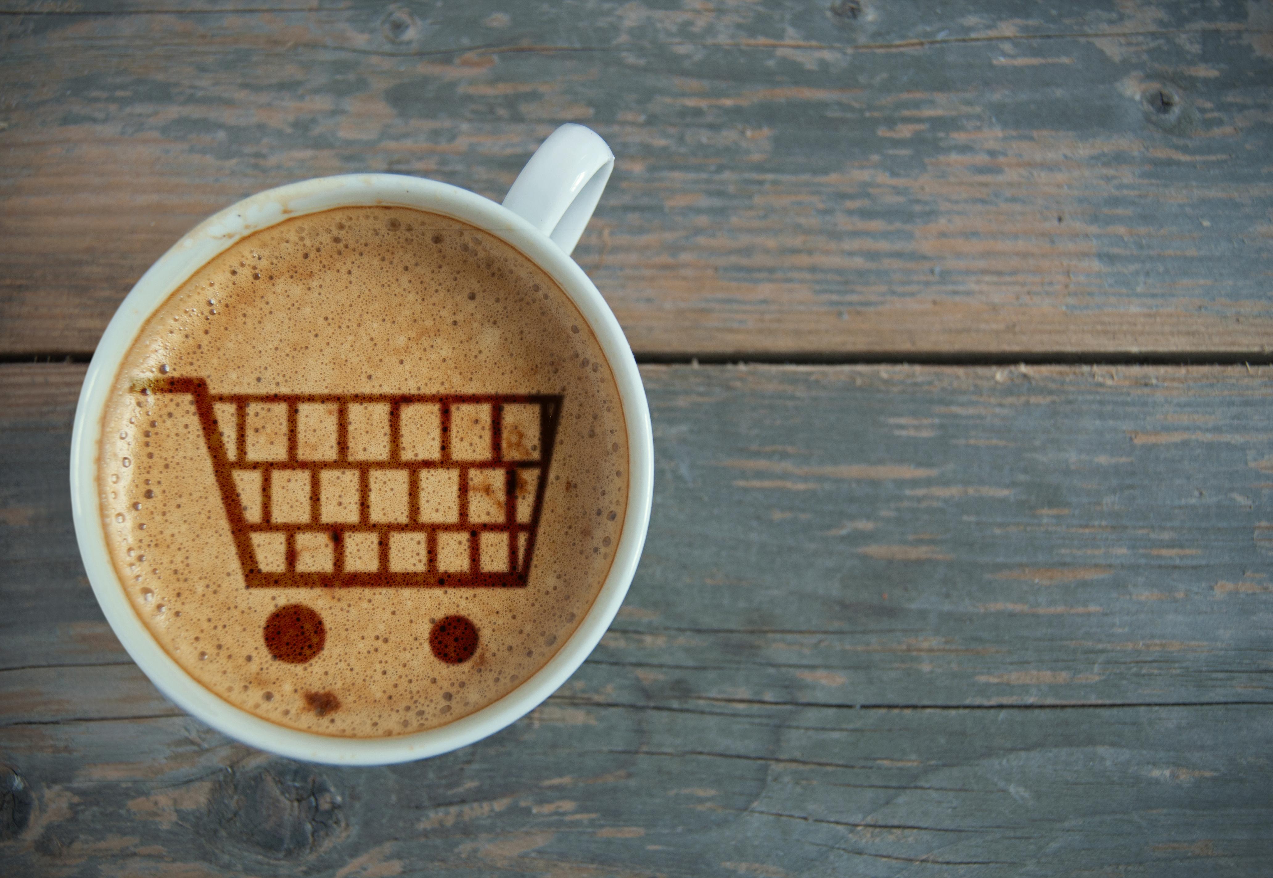 coffee trolley shopping
