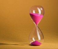 pink hourglass time