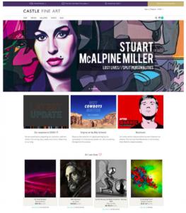 Castle Fine Art website